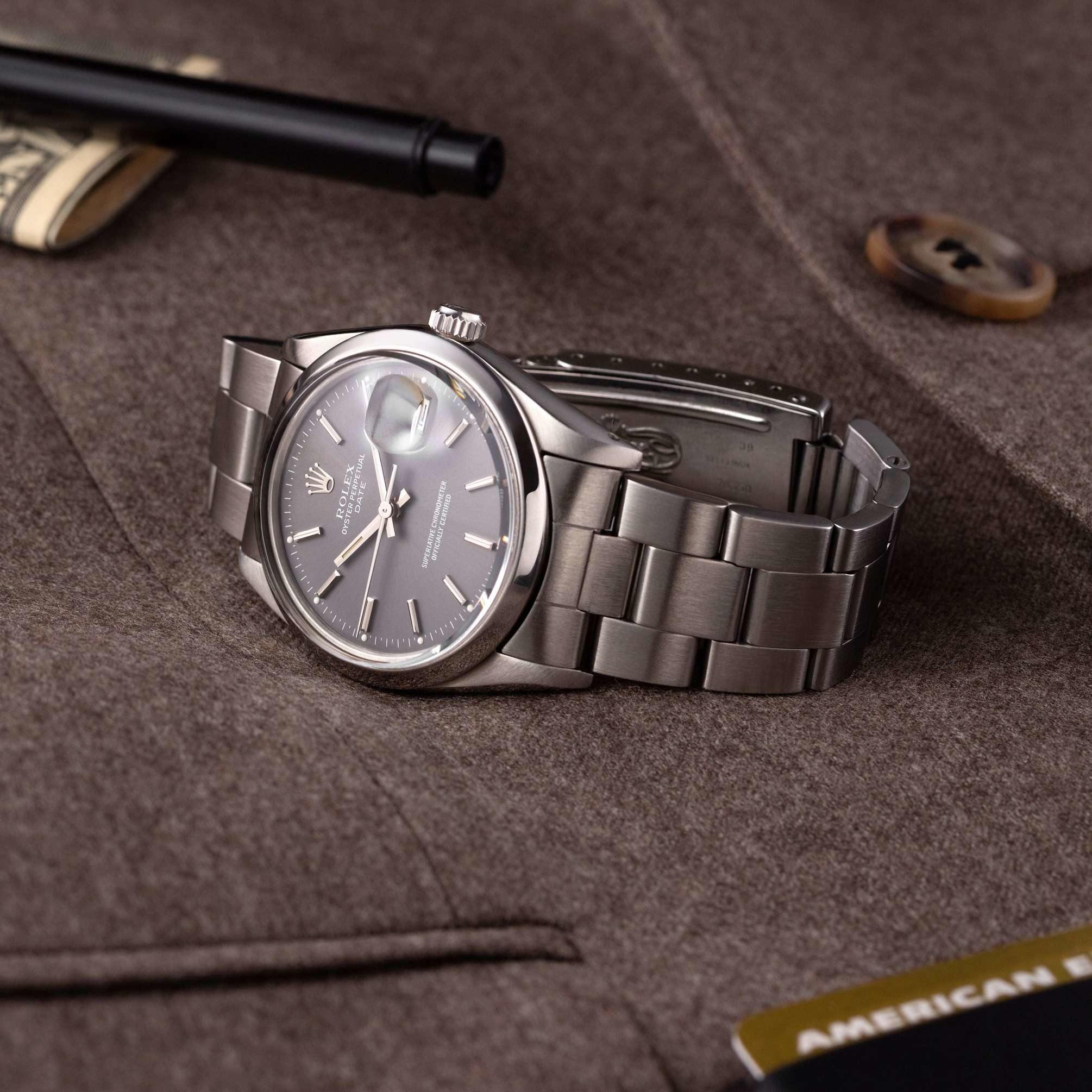 Rolex Oyster Perpetual Date 15000 grey dial - The Modest Man