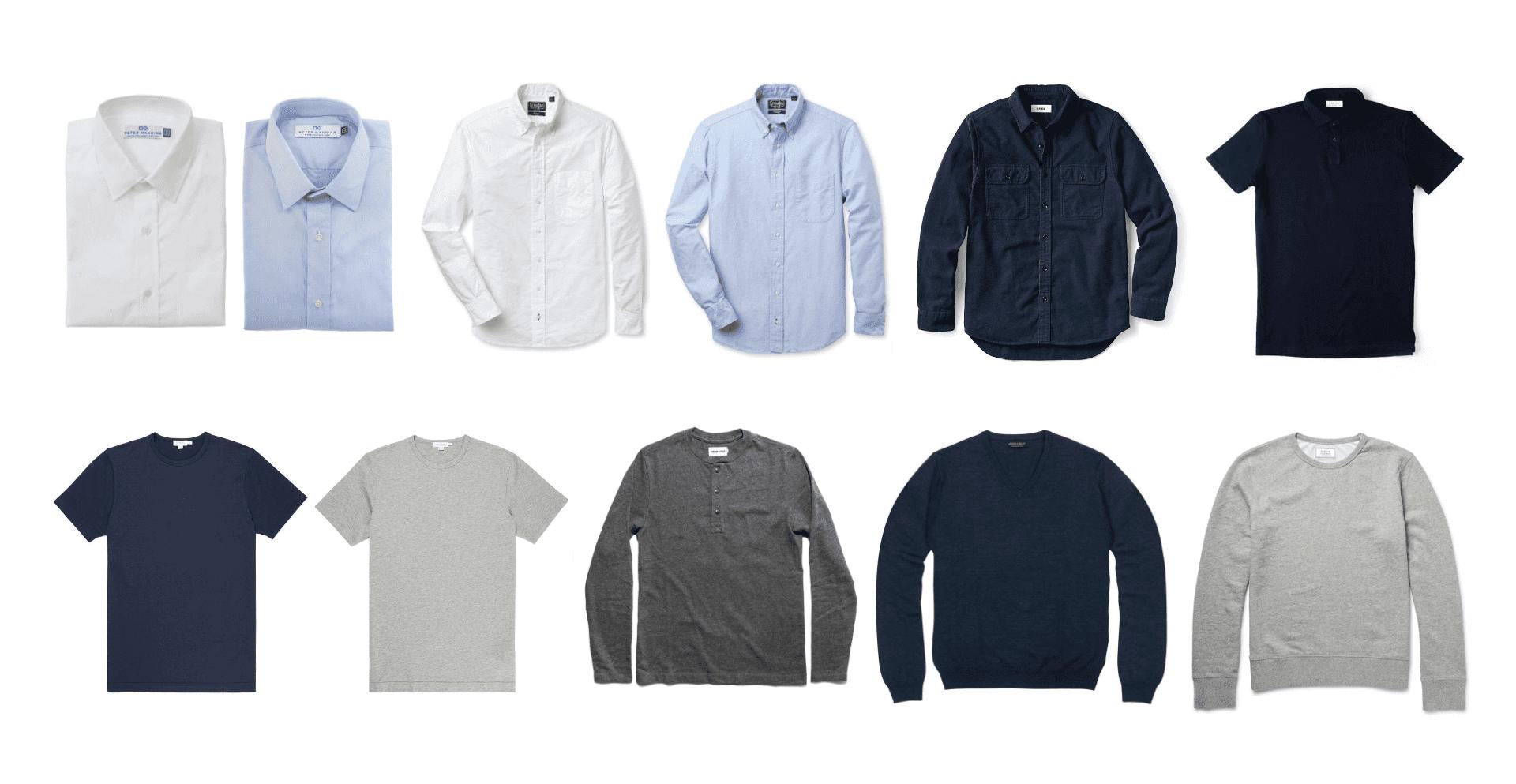 Minimal mens shirt collection