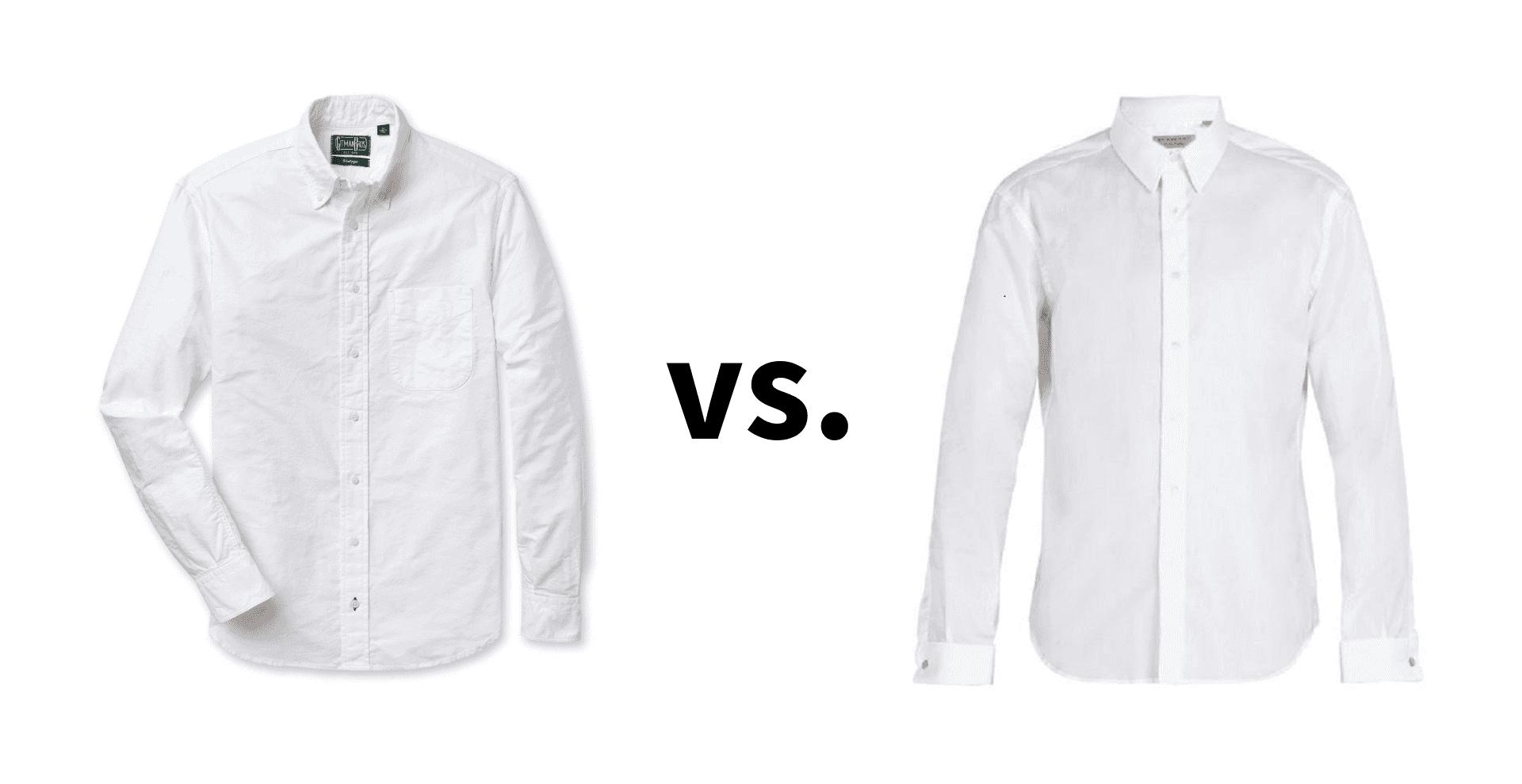 OCBD vs dress shirt