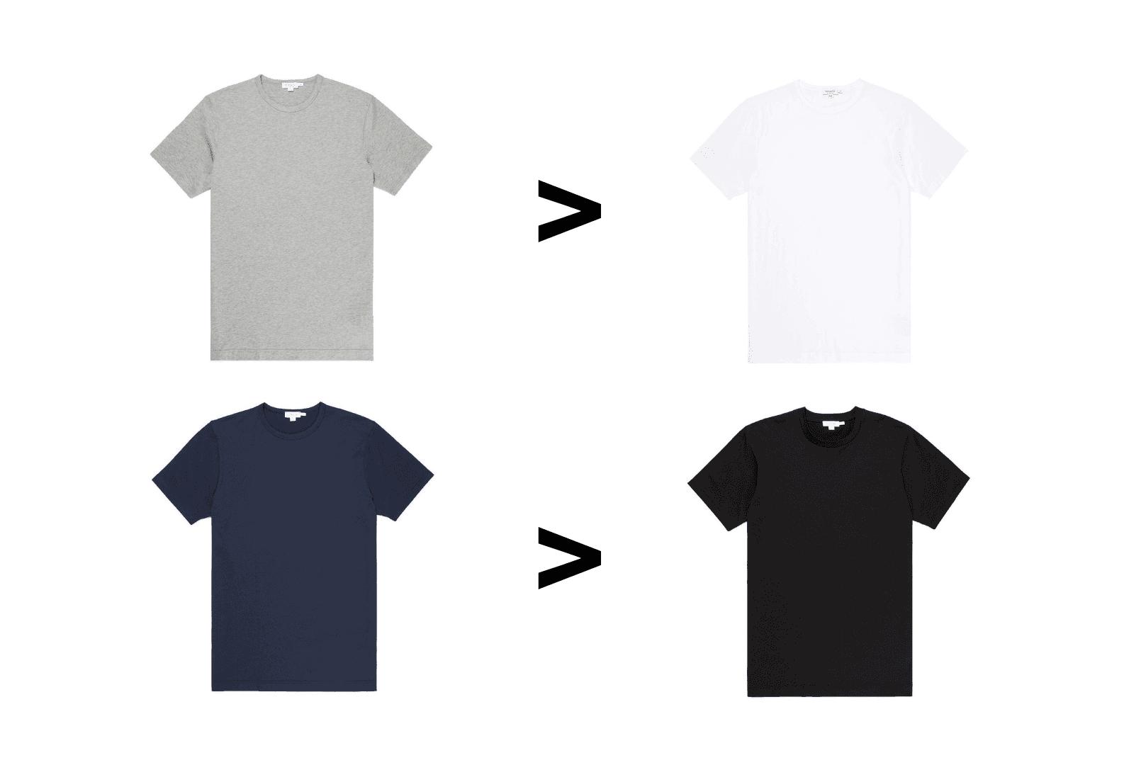T shirt colors