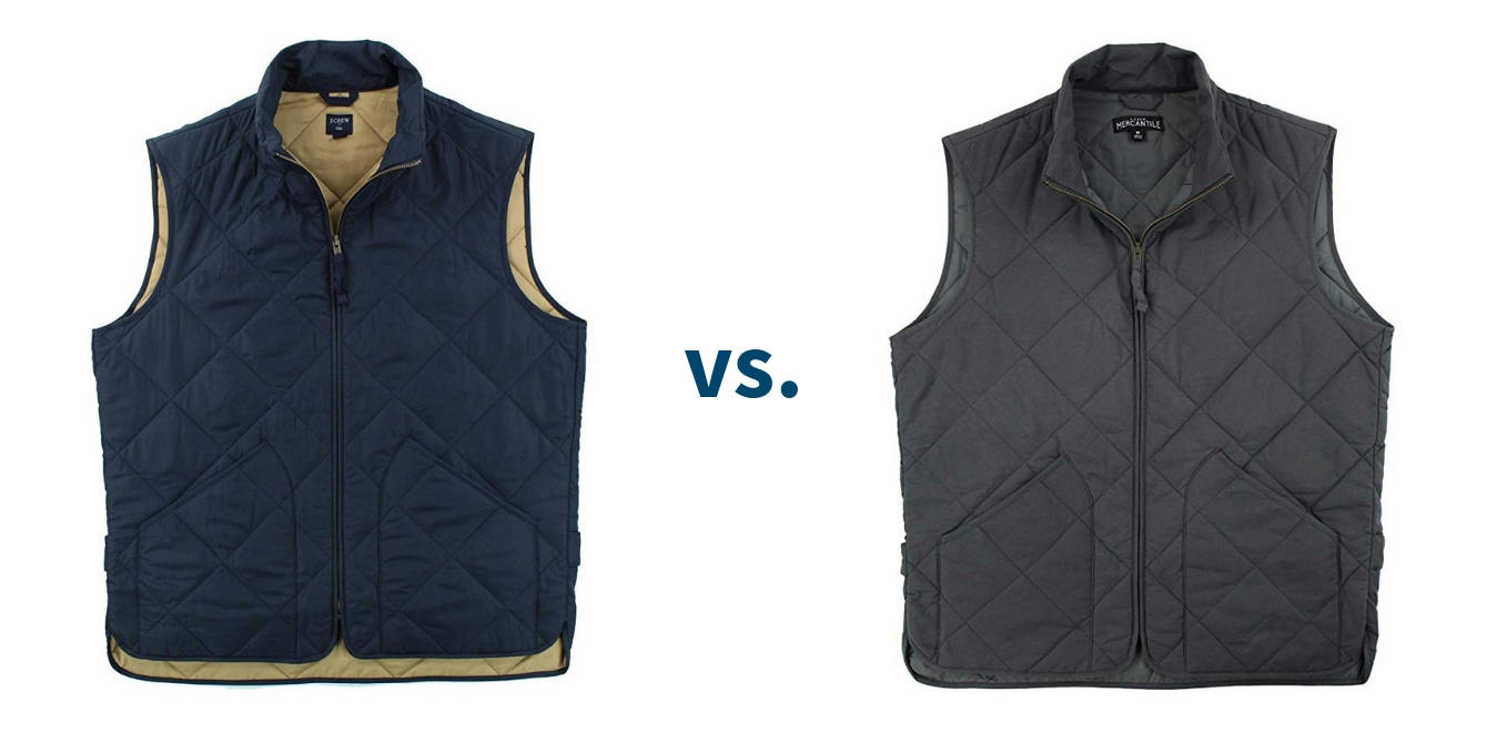 J Crew Factory Walker Vest vs Mercantile Vest