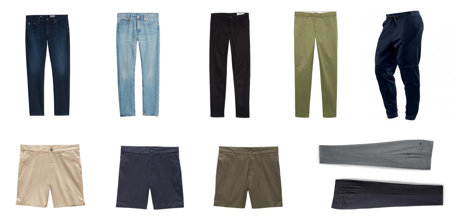 Minimalist mens pants collection