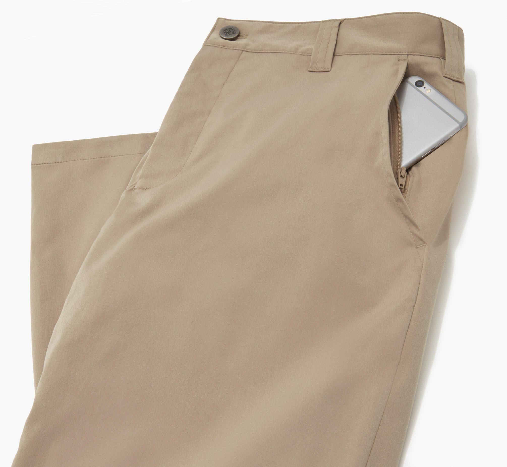 Zip front pocket