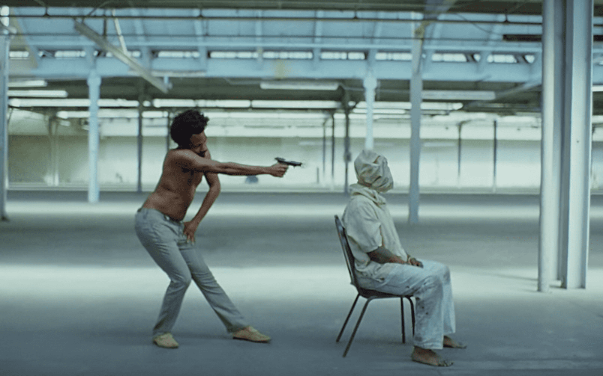 Donald Glover in 'This Is America' still
