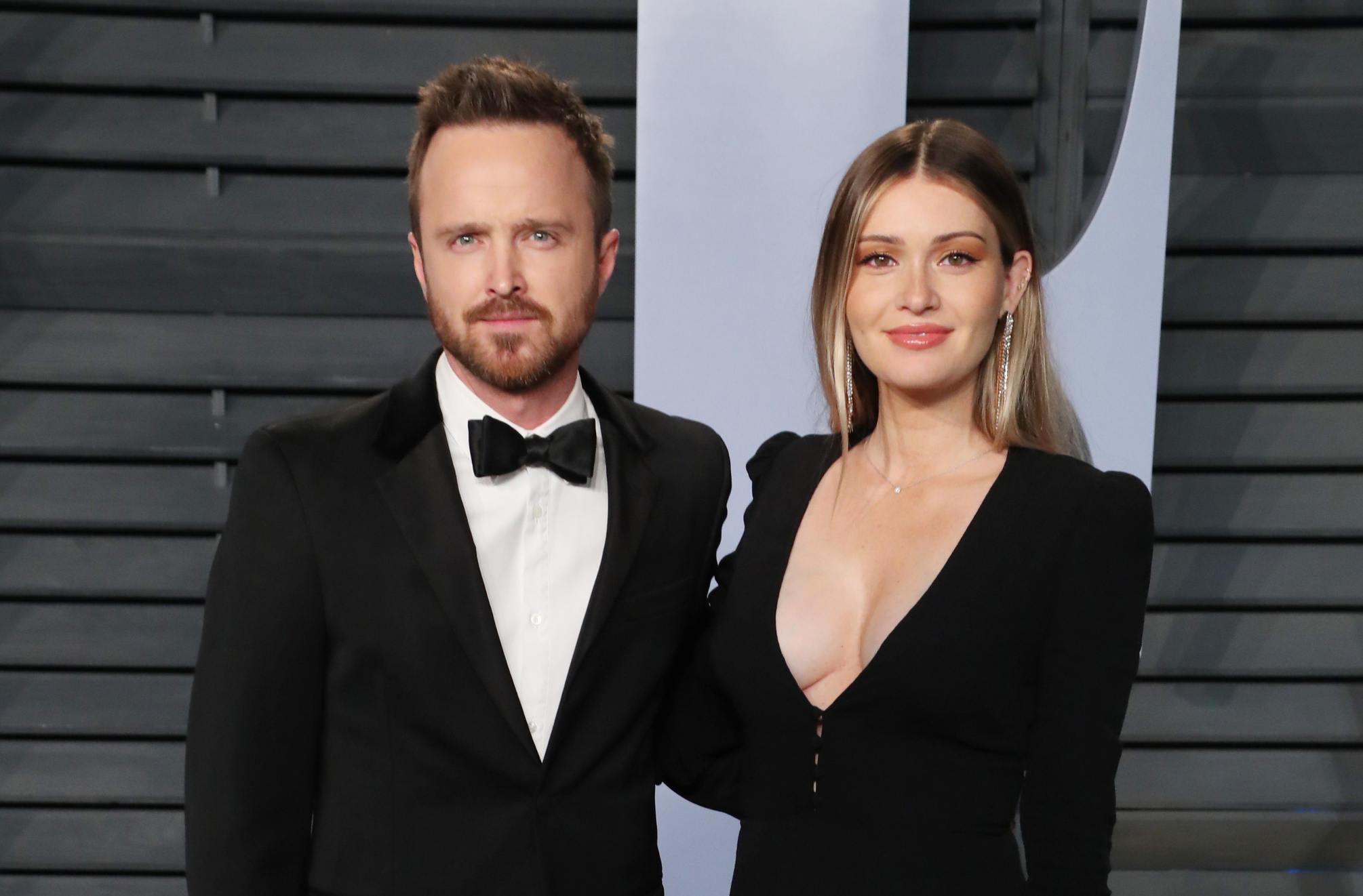 Aaron Paul with wife Lauren Parsekian