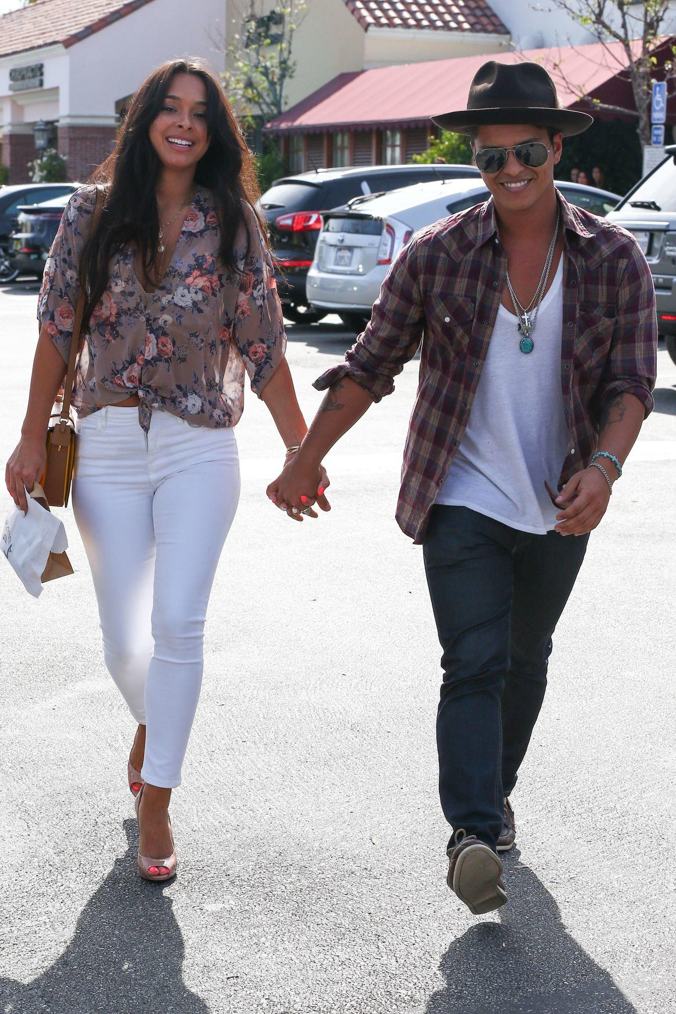 Bruno Mars with girlfriend Jessica Caban
