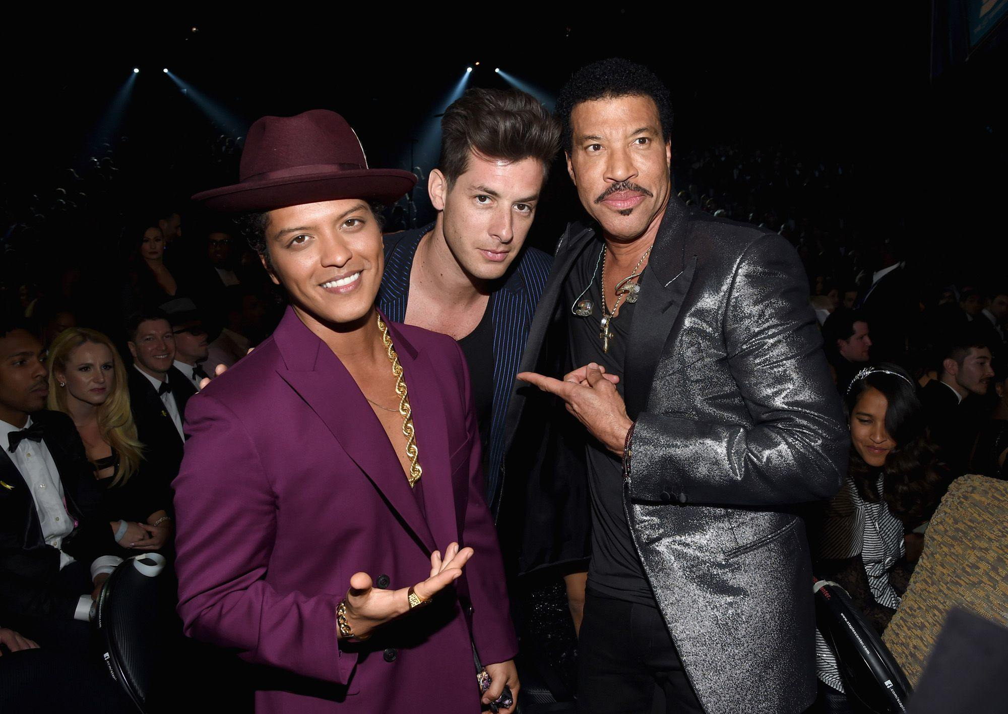 Bruno Mars with Lionel Richie and Mark Ranson