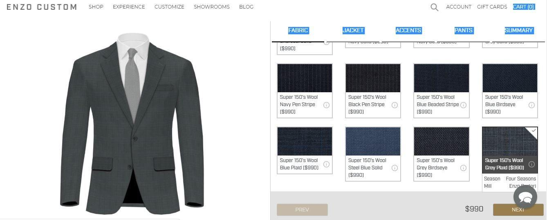 Enzo Custom Website