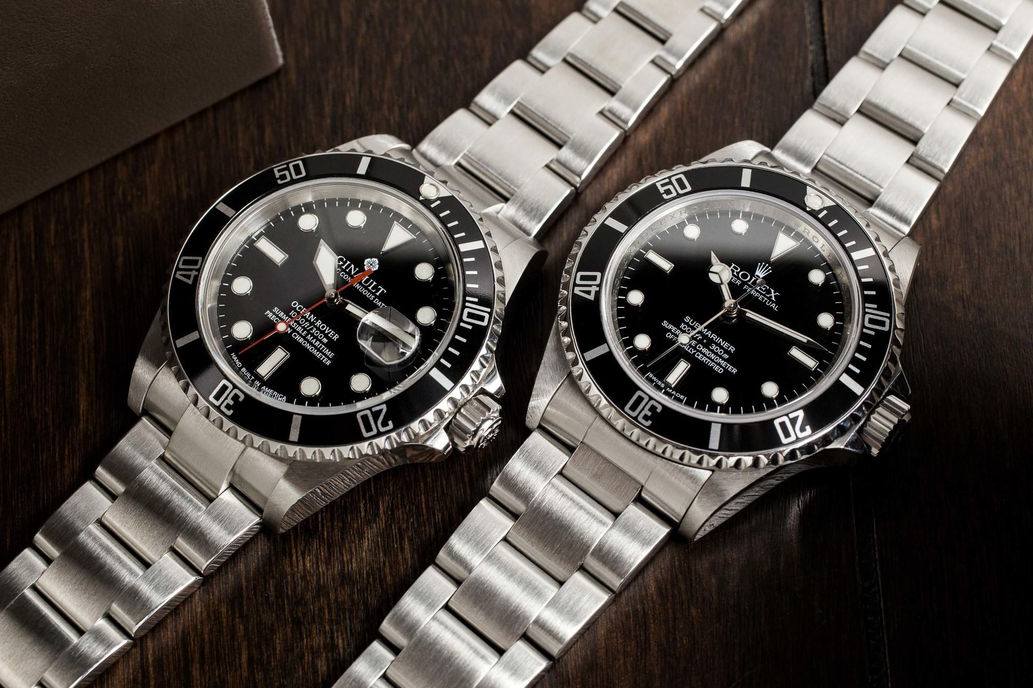Ginault Ocean Rover vs Rolex Submariner 2