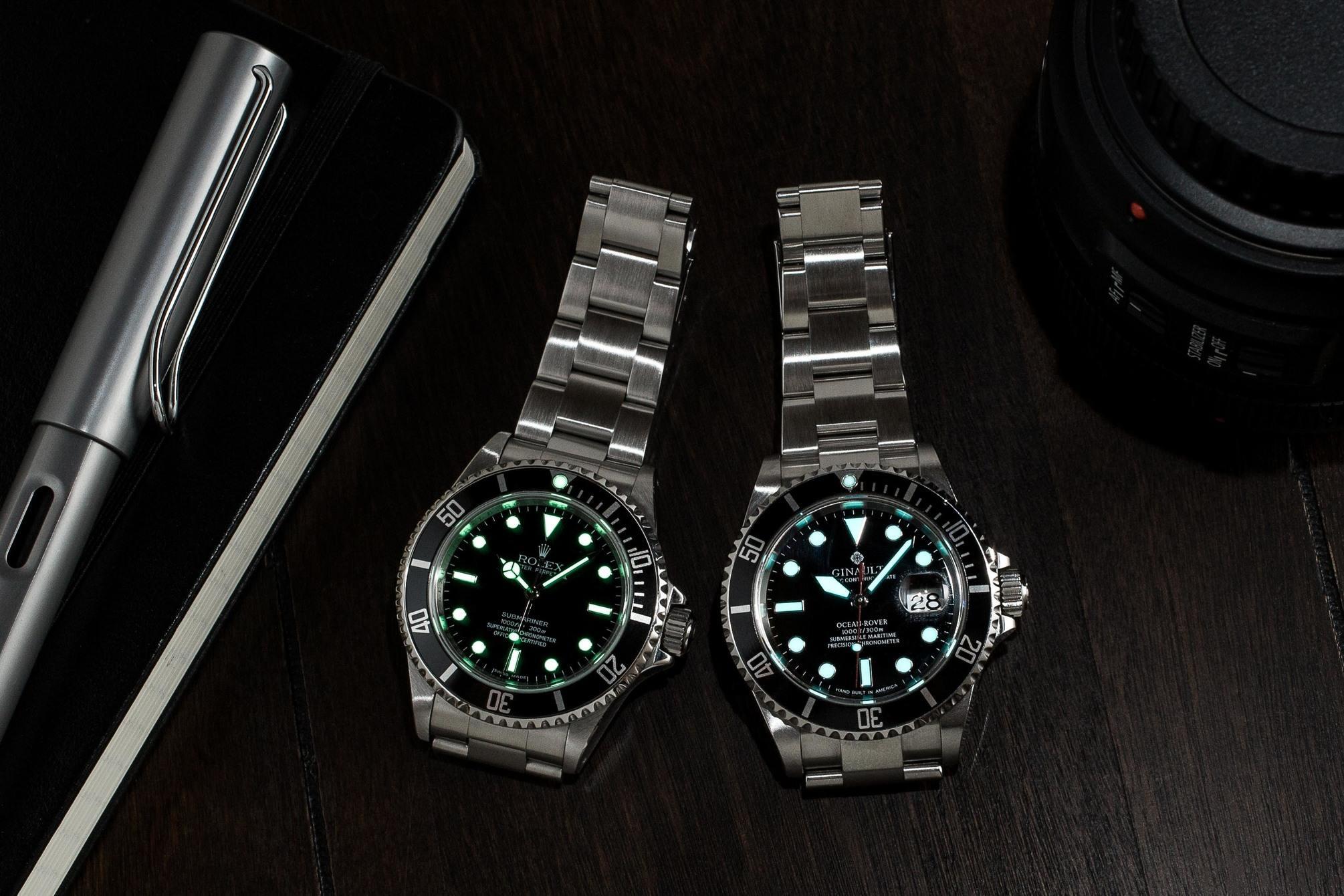Ginault vs Rolex lume