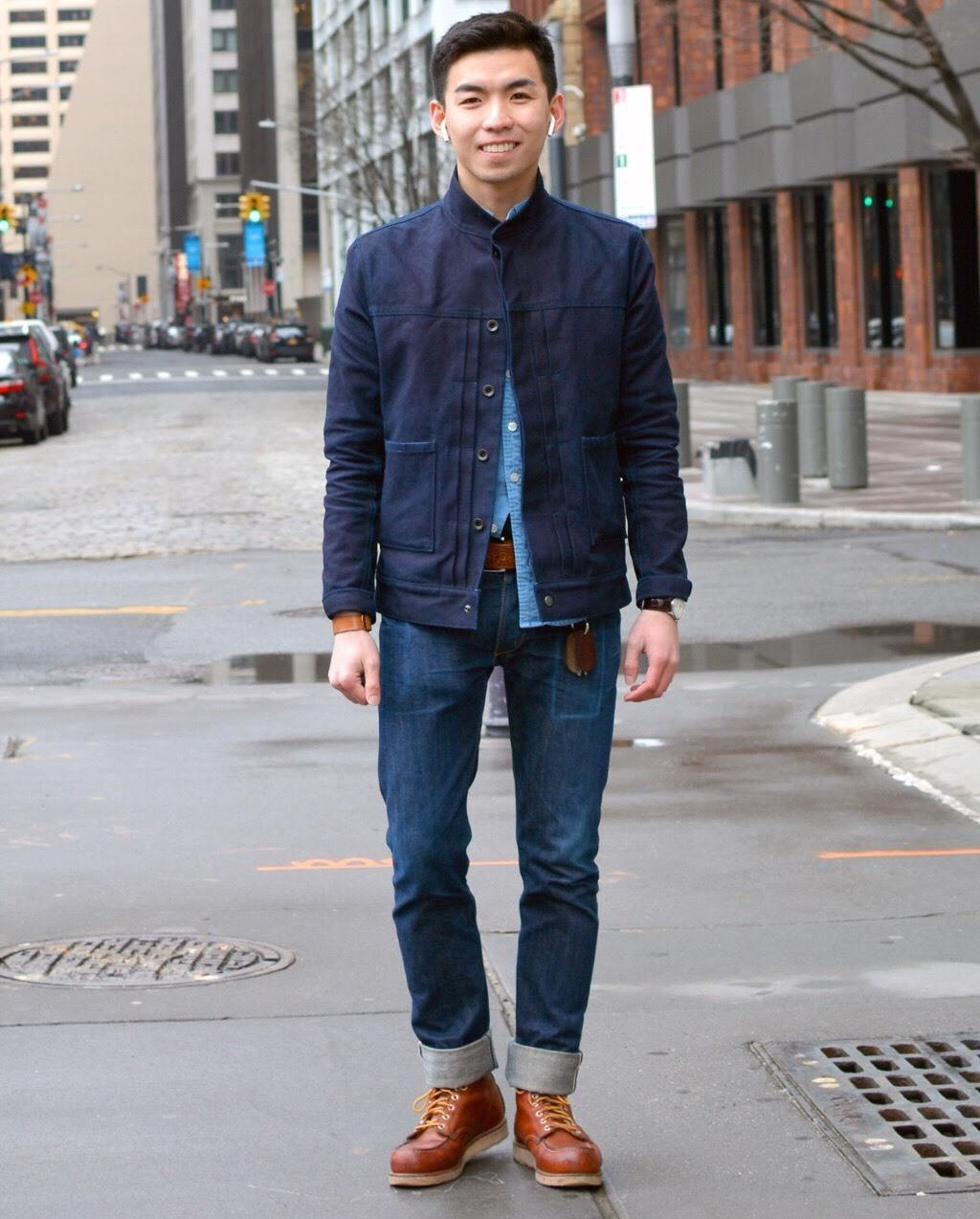 Humphrey Tsui in blue jacket and jeans