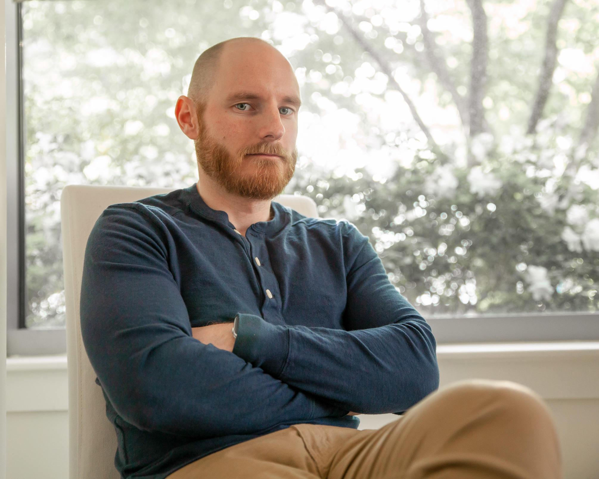 Robert Ordway wearing heanley shirt