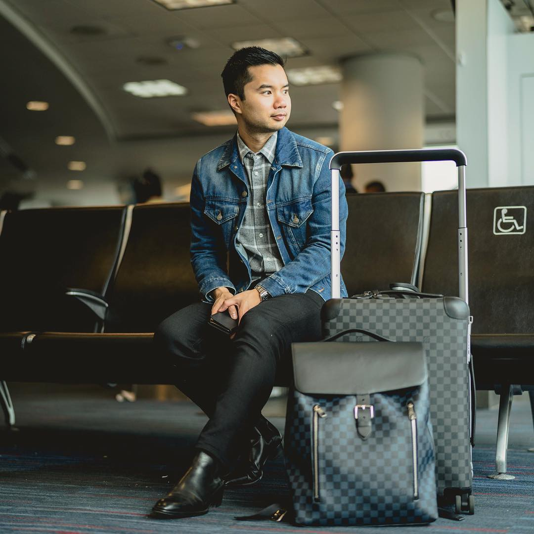 Thanh in the airport