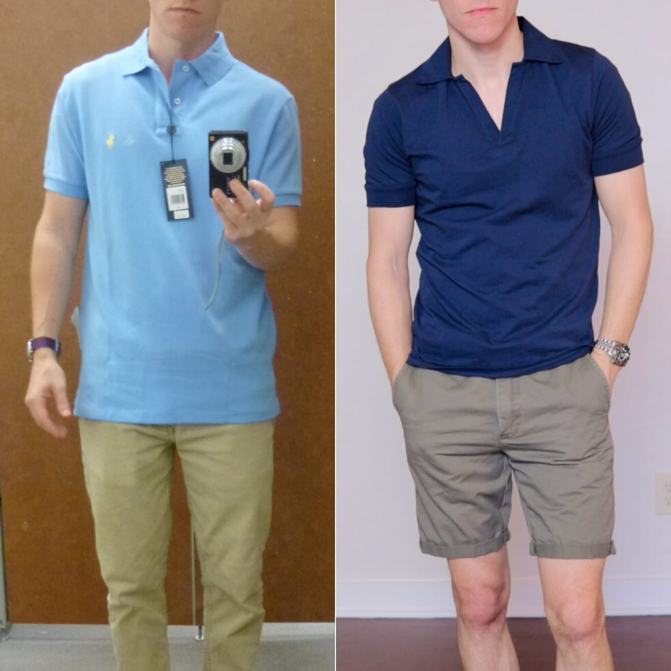 Bad vs. good fit polo