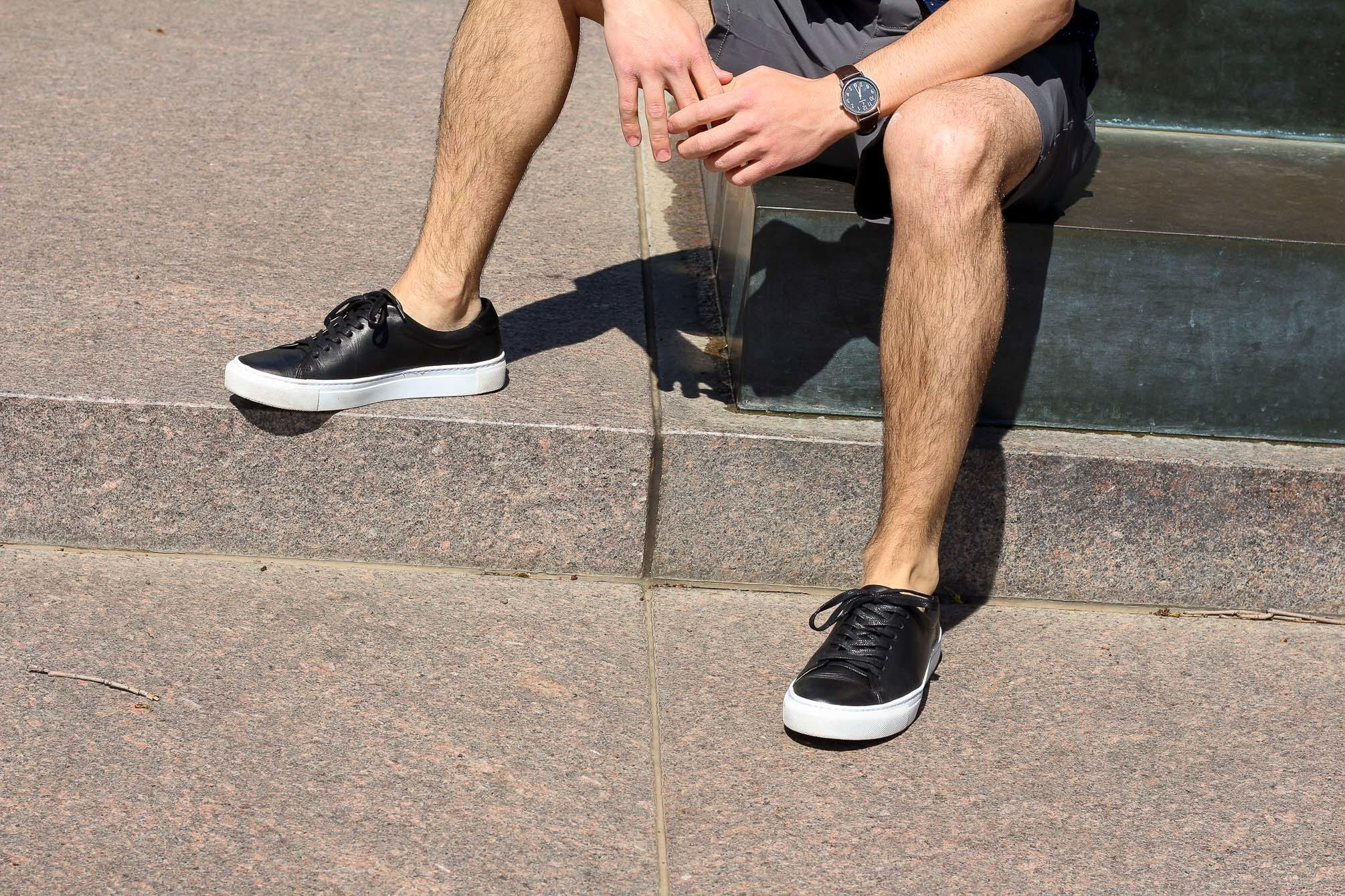 Joey wearing Beckett Simonon sneakers