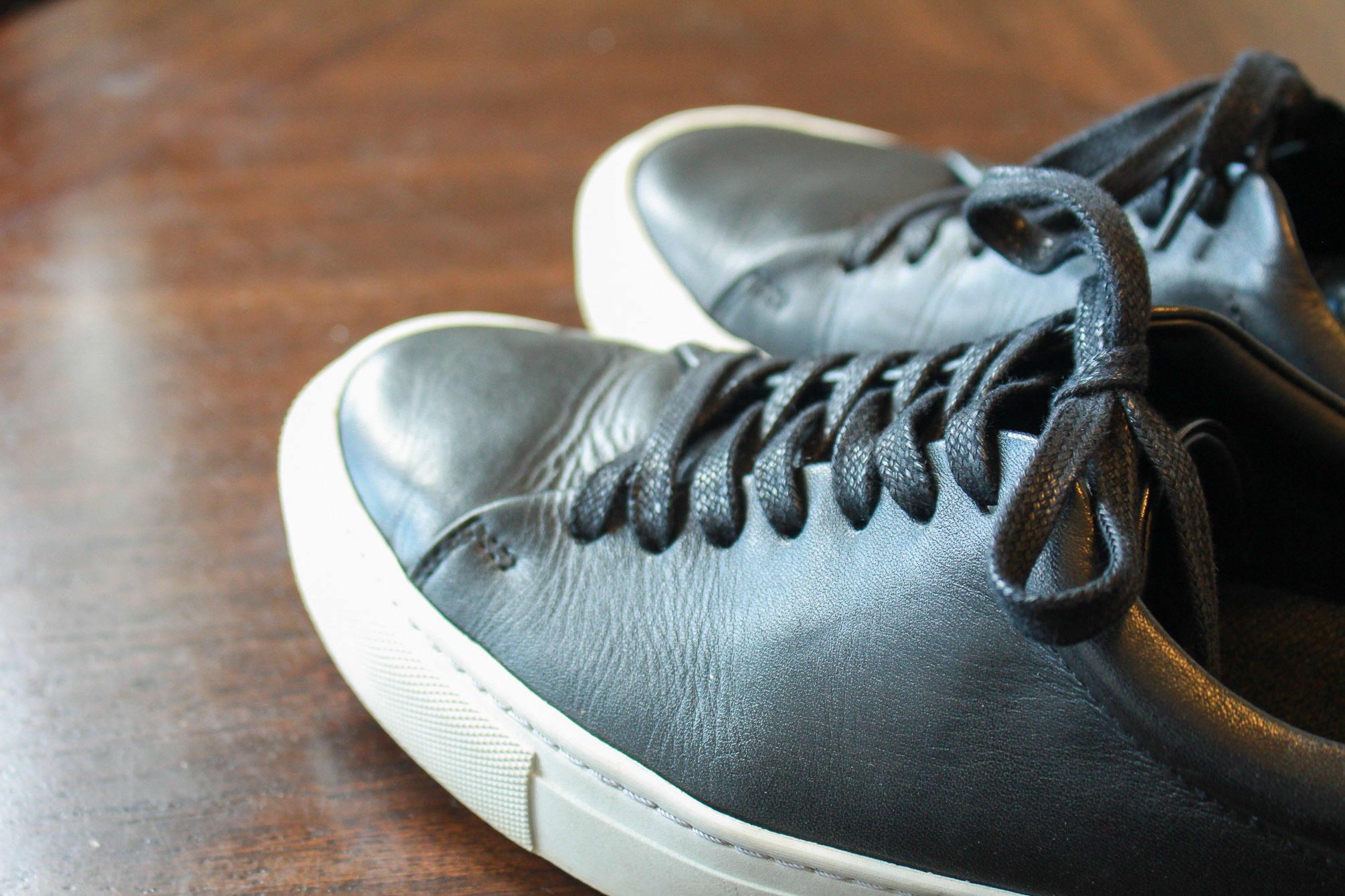 Beckett Simonon black leather