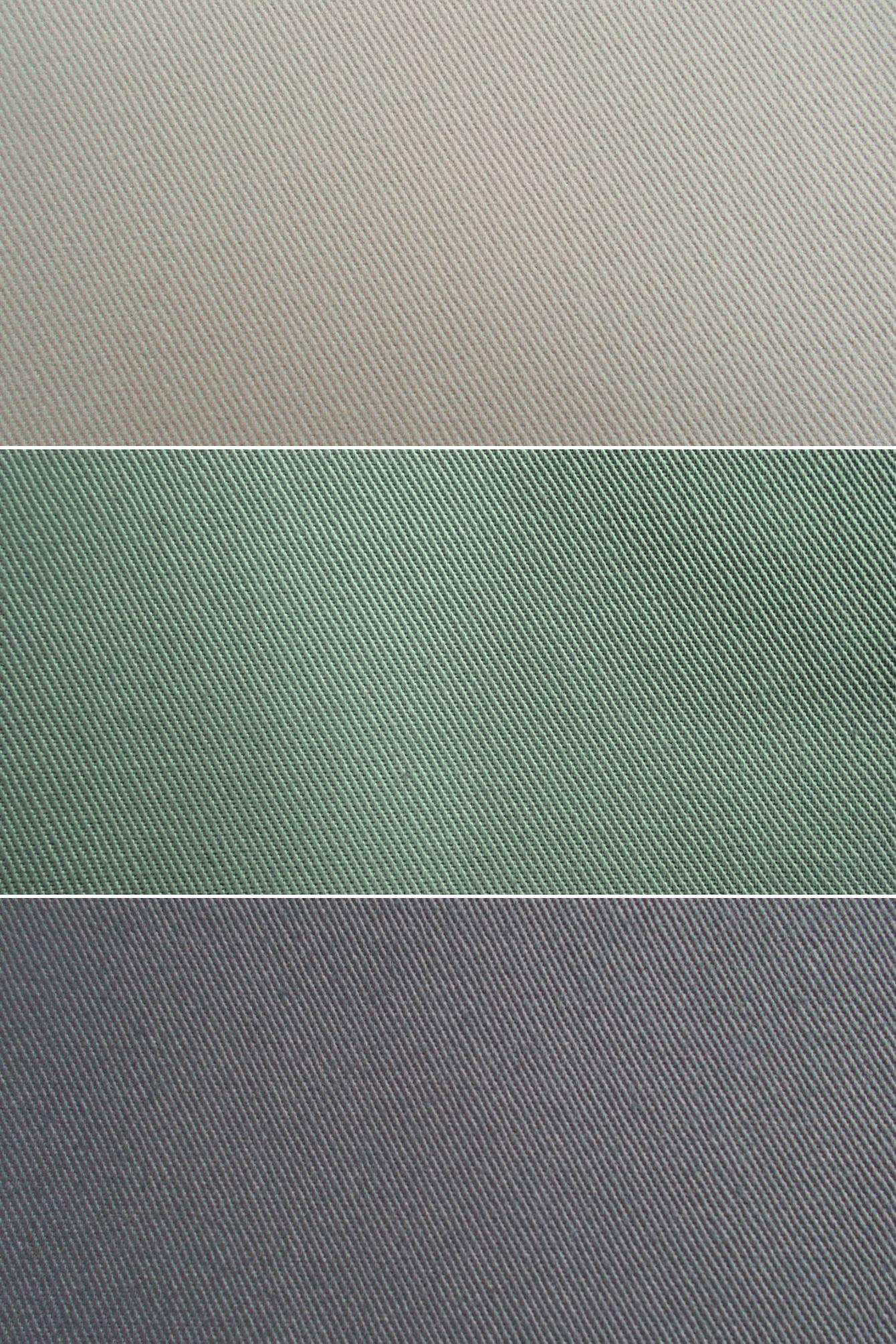 Chino cloth colors - khaki, olive and grey