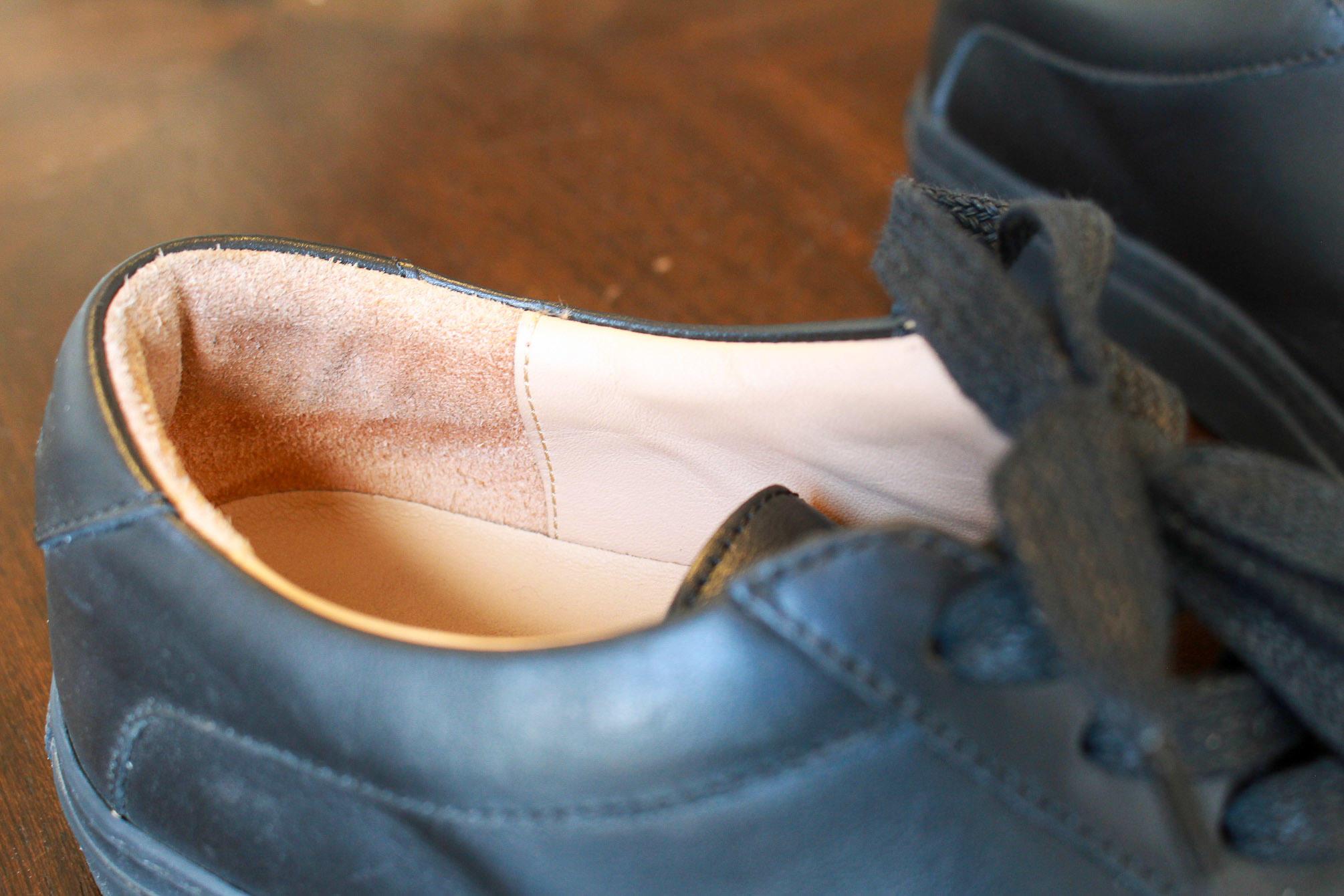 Koio Capri Nero leather lining