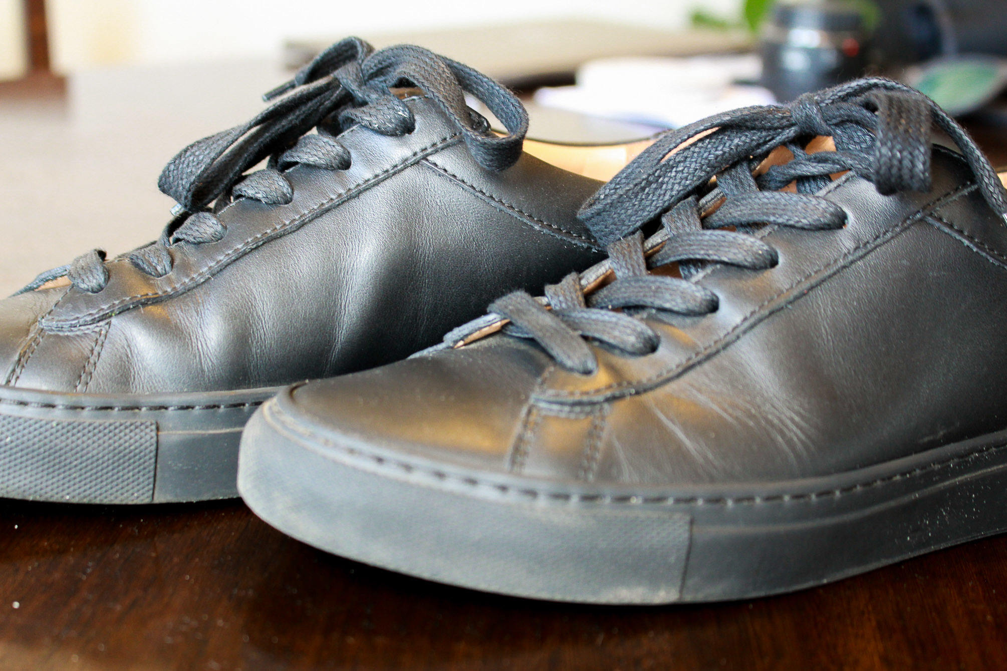 Koio black leather