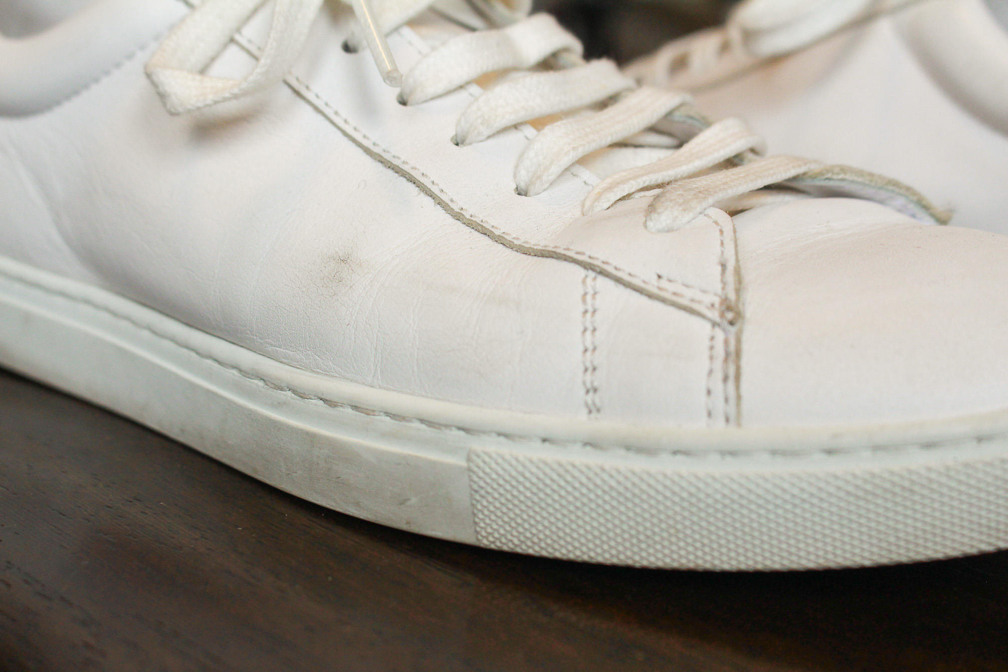 Blemishes on Oliver Cabell sneakers