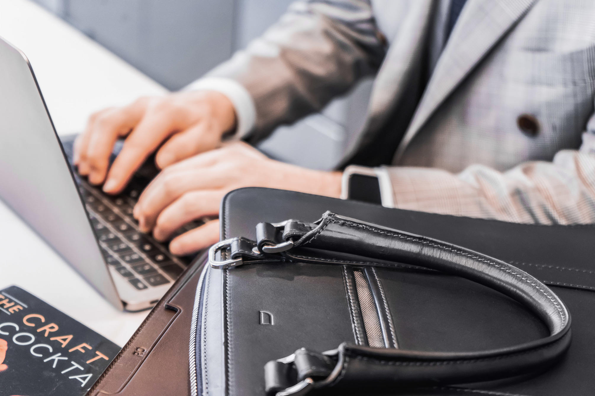 Typing with Palissy briefcase