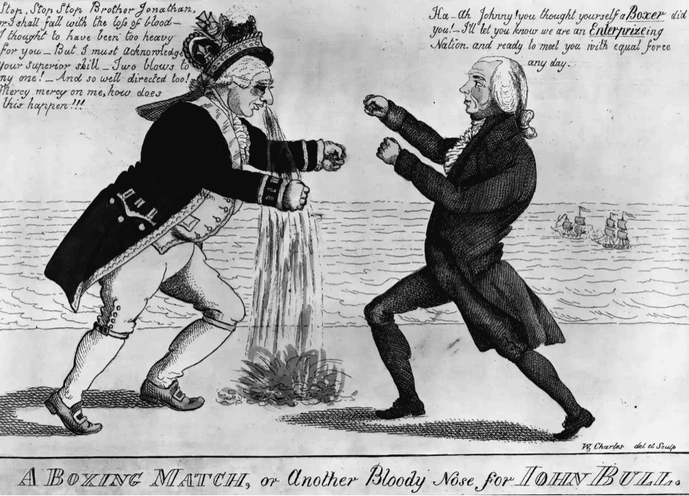 President Madison in a brawl with John Bull