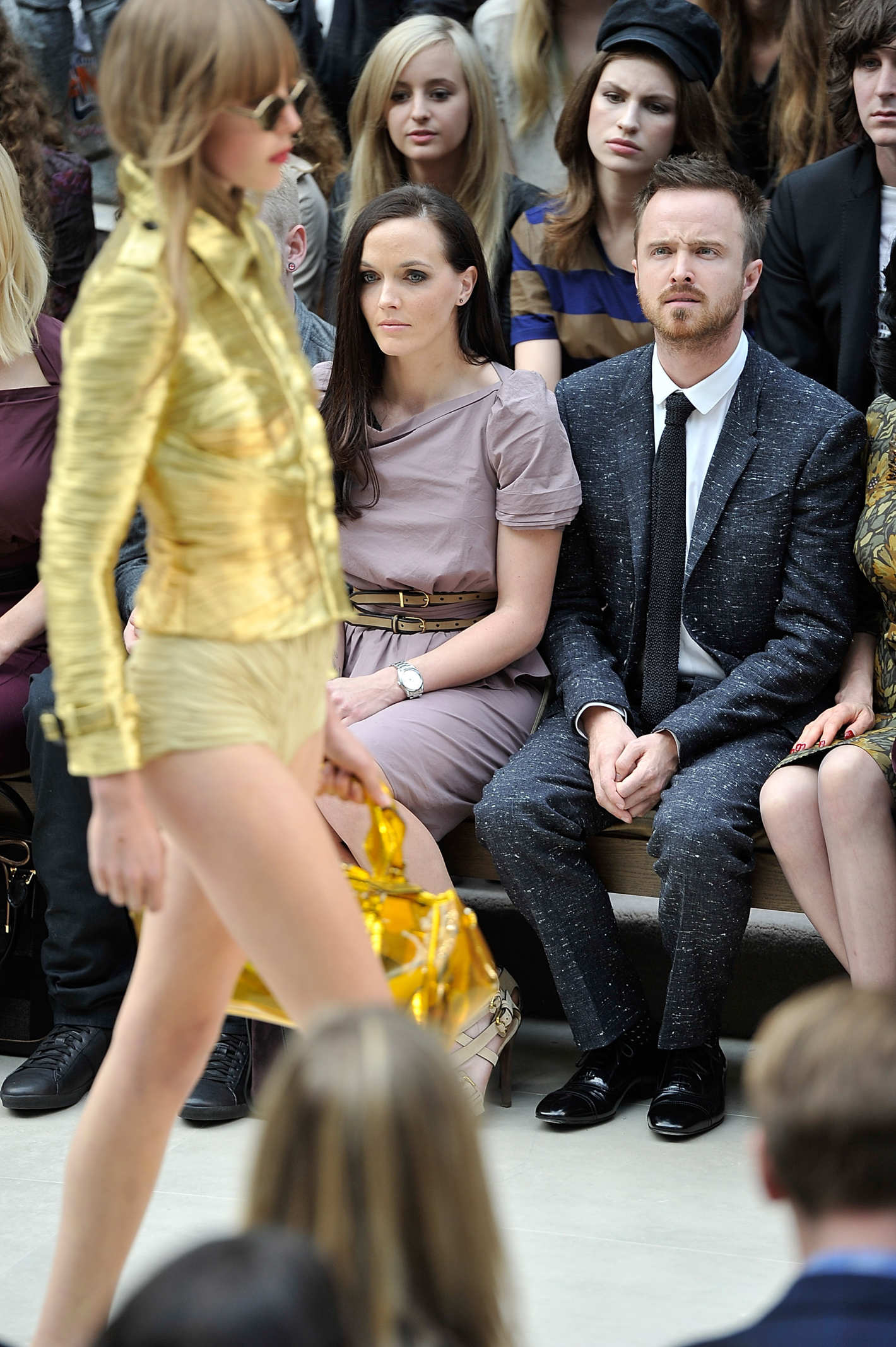 Aaron Paul at a Burberry Show