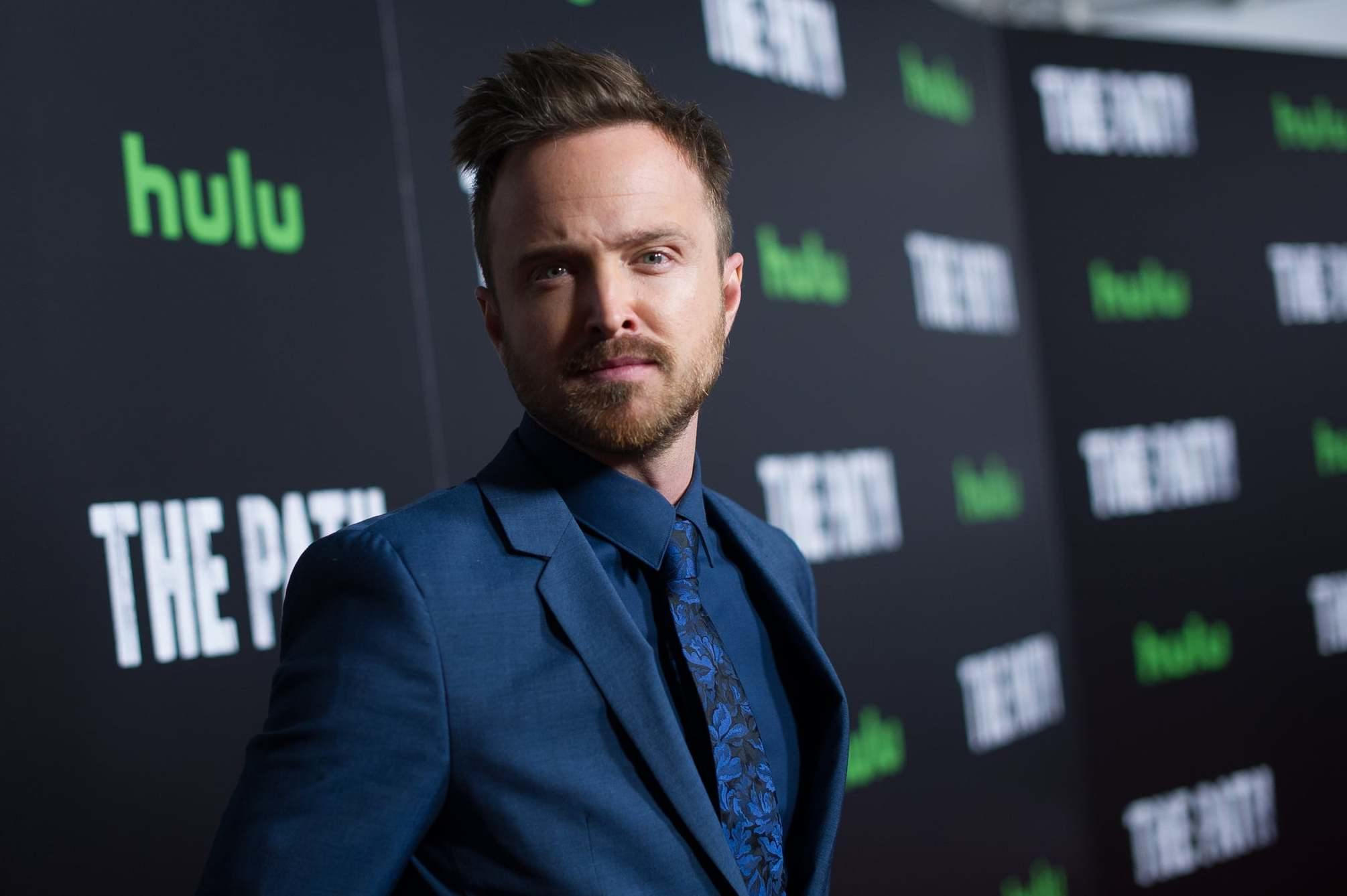 Aaron Paul at the premier of The Path