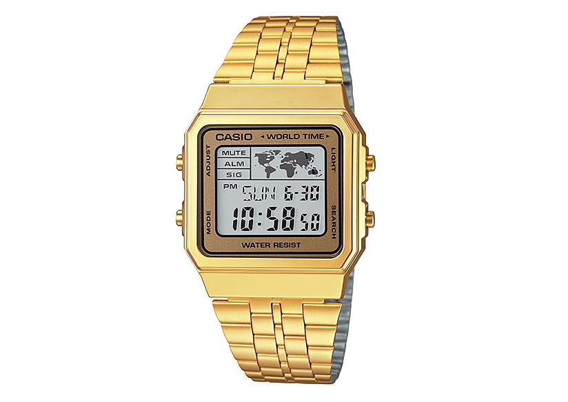 Gold-Tone Casio World Time A500WGA-9DF