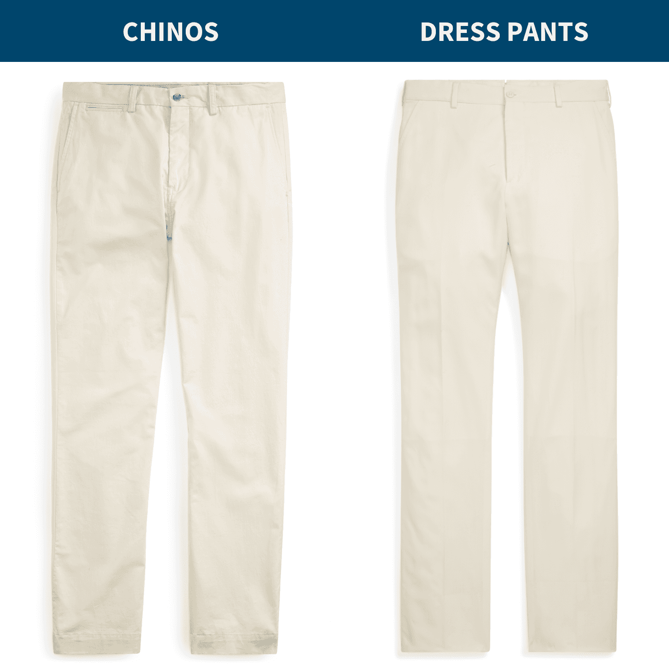 Chinos vs. Dress Pants