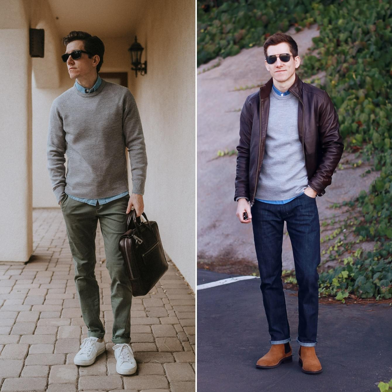 Chinos vs Jeans casual