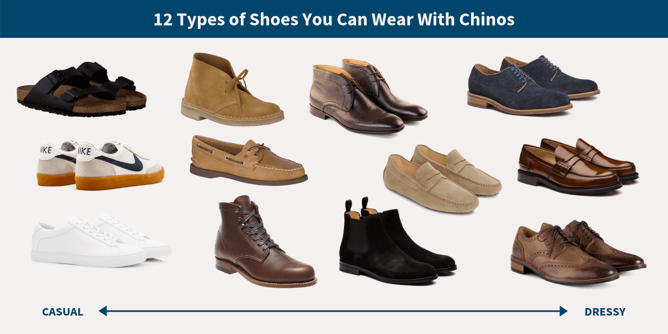 Types of shoes to wear with chinos