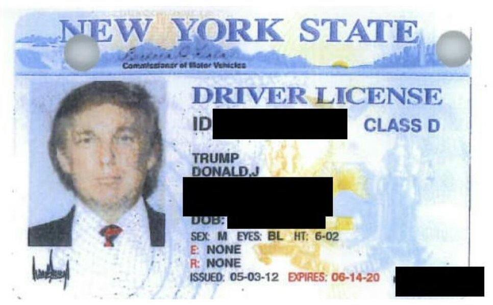 Trump drivers license height