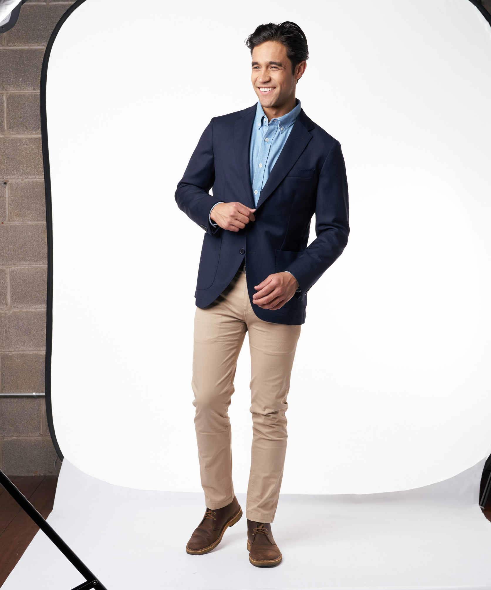 Unstructured Navy Jacket