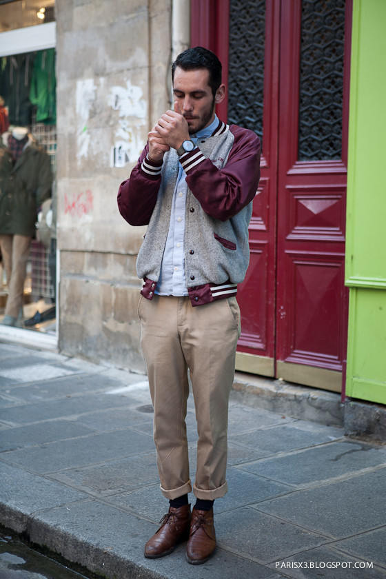 man wearing khaki chinos and jacket