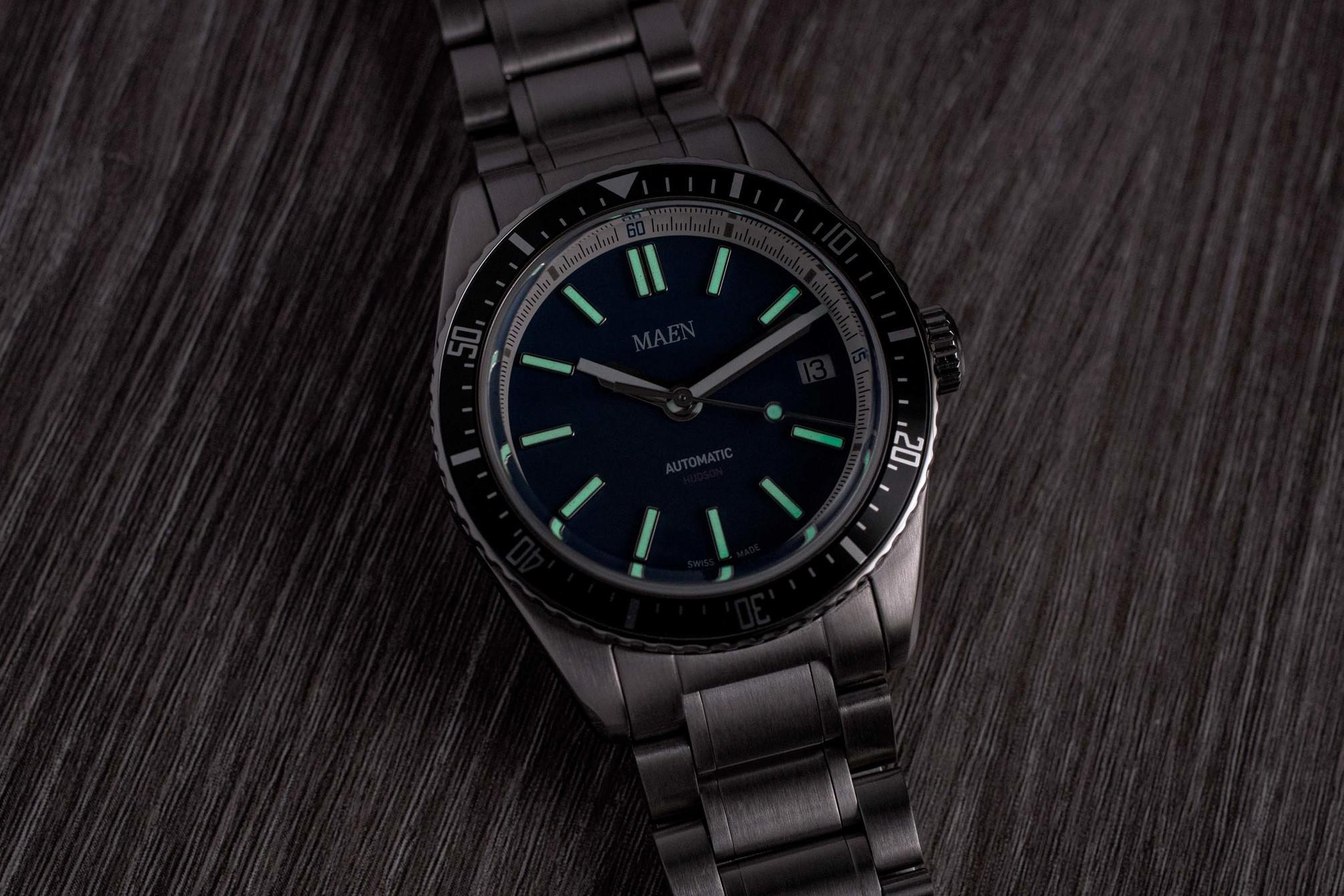 Maen Hudson Automatic 38mm lume