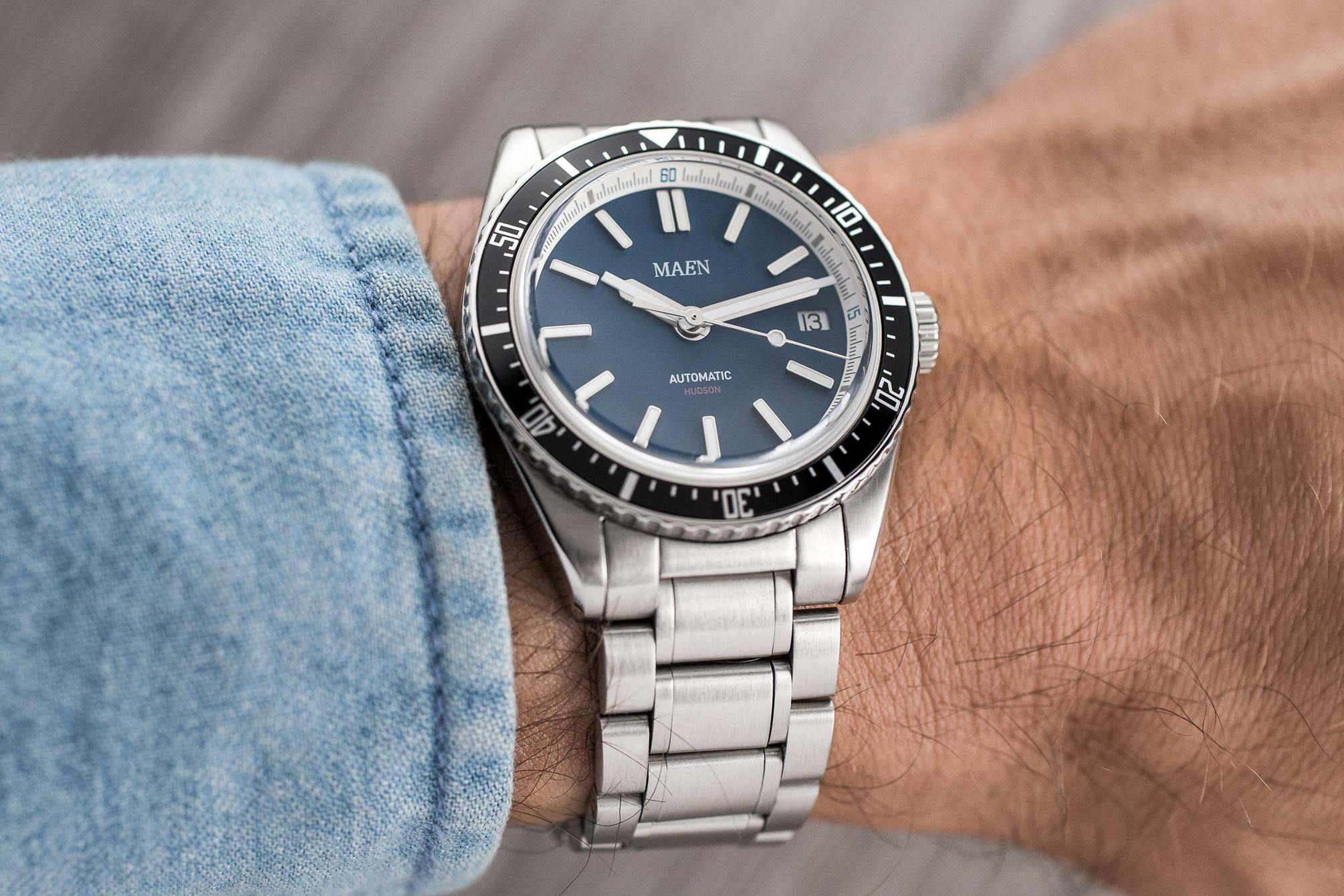 Maen Hudson Automatic 38mm on wrist
