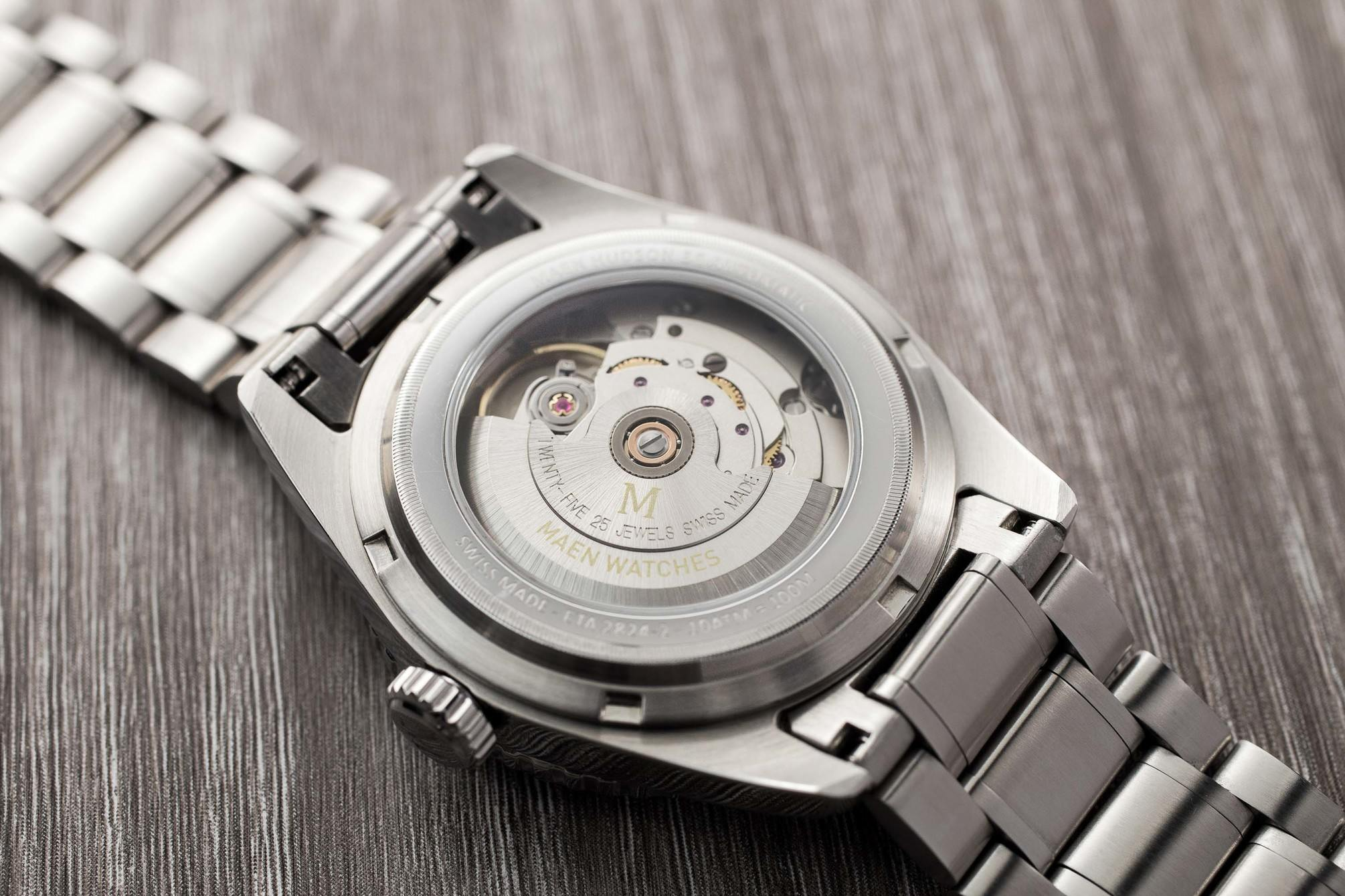 Maen Hudson Automatic 38mm back view