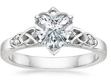 Heart cut engagement ring