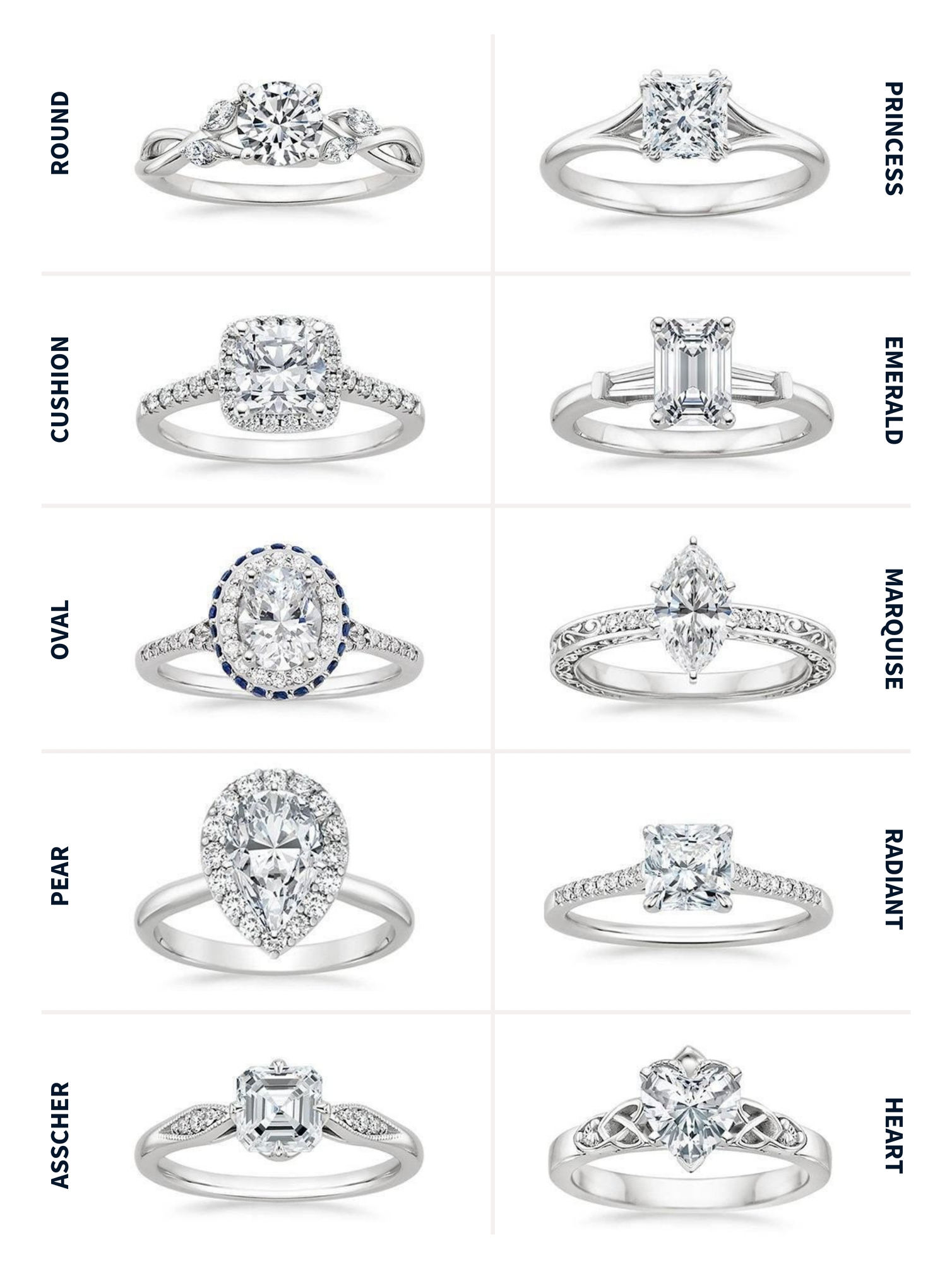 Diamond ring cuts