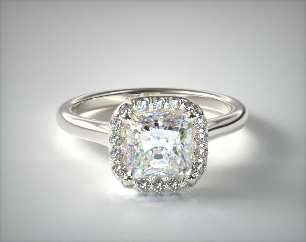 James Allen Halo Ring with Small Diamonds