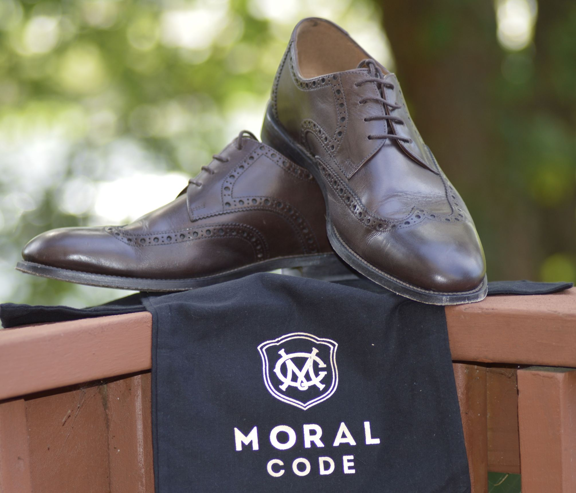 Moral Code Brogued Dress Shoes