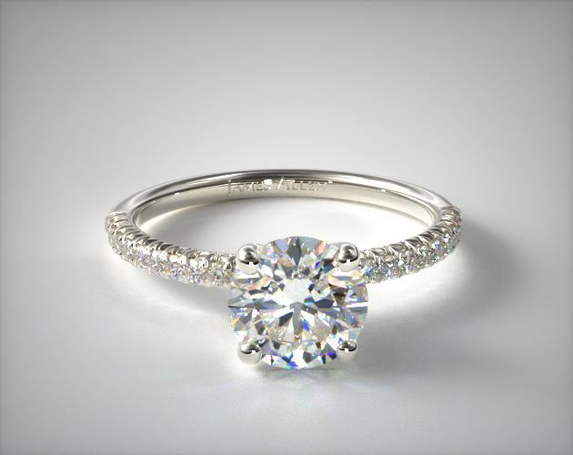 James Allen pave engagement ring