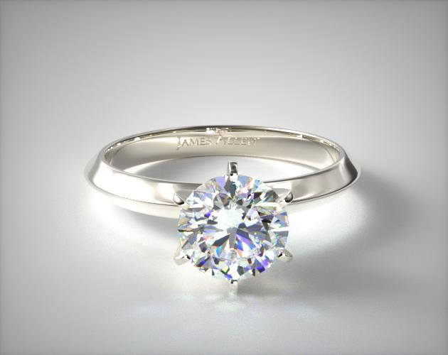Solitaire Ring with Central Stone
