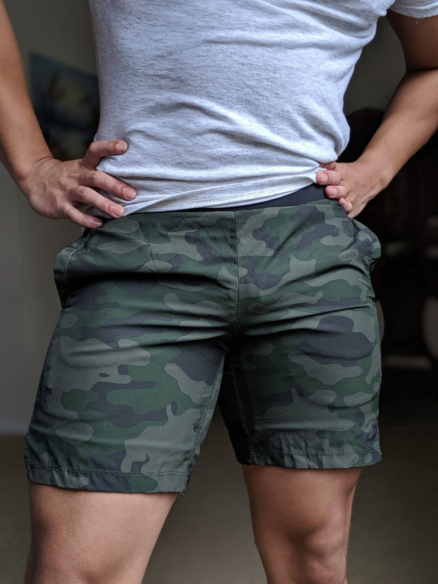 Bearbottom camo shorts front