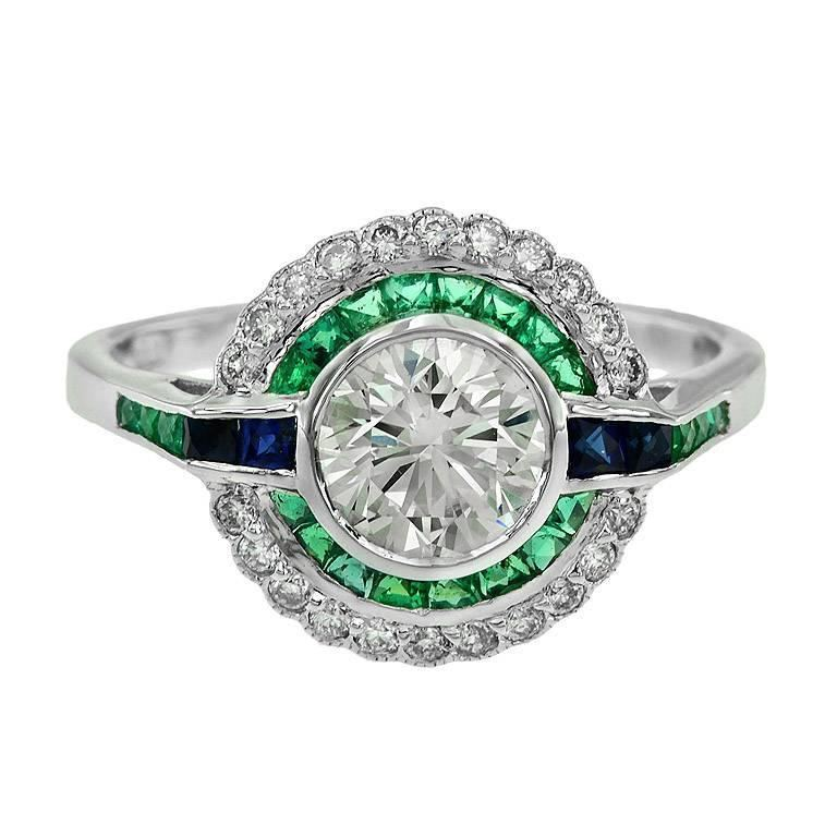 1.09 ct Art Deco era diamond engagement ring