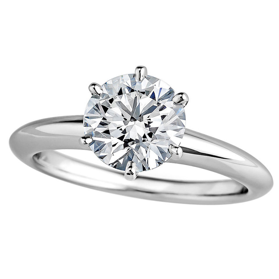Tiffany diamond solitaire engagement ring