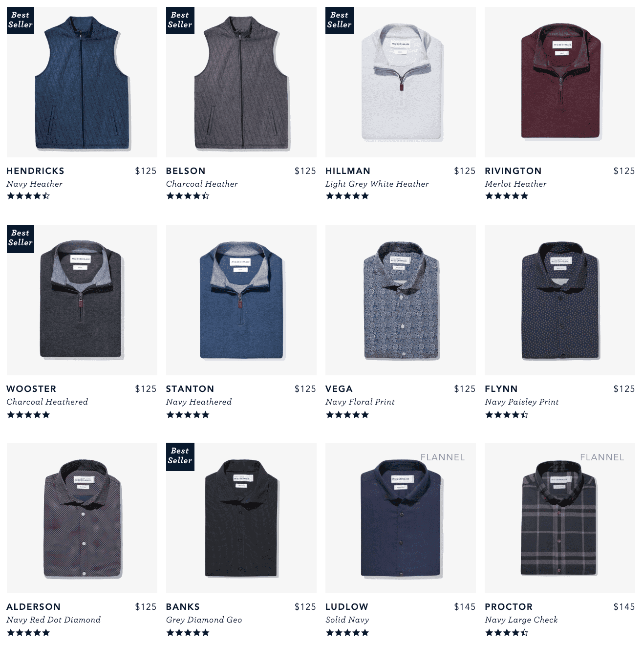Mizzen and Main casual products