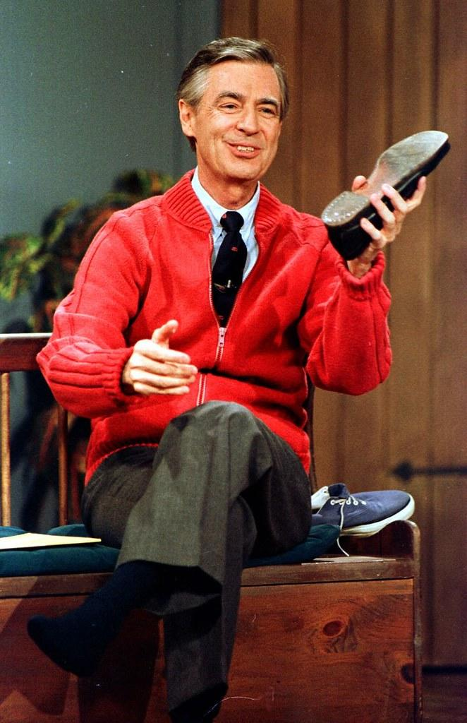 Mr. Rogers red cardigan