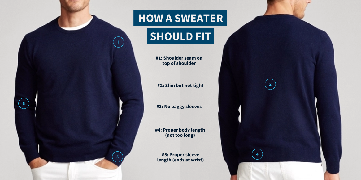 How a sweater should fit